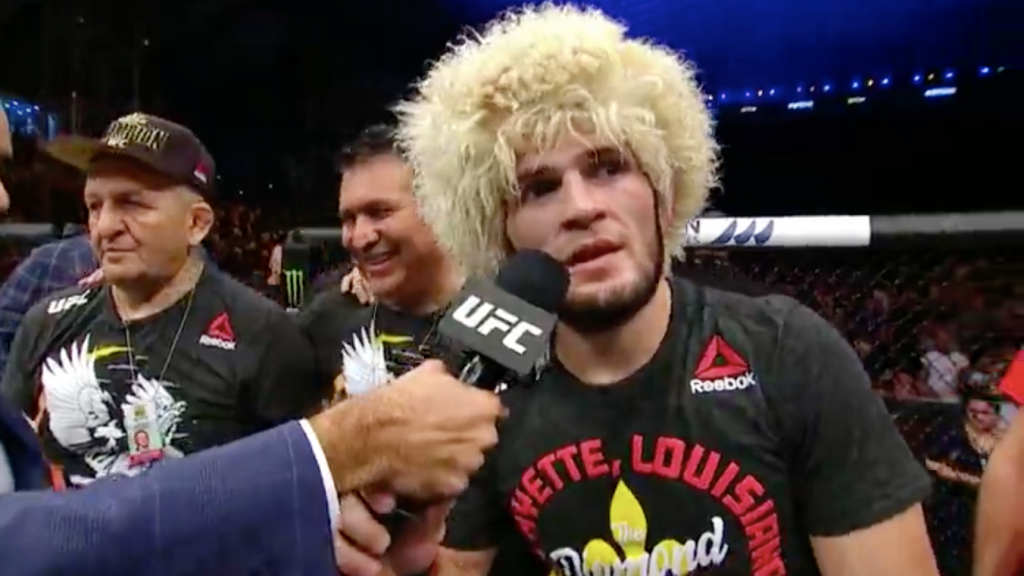 Khabib Makes Class Post Fight Gesture To Defeated Poirier Sportsjoe Ie